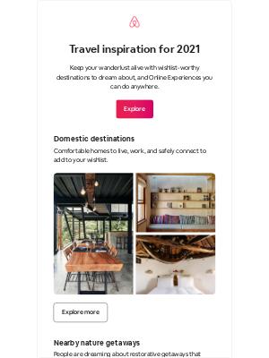 Airbnb - 2021 travel inspiration