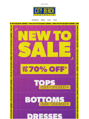 NEW TO SALE 📣 Up to 70% OFF!