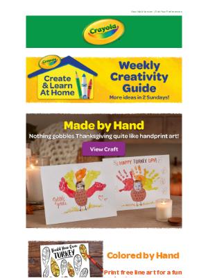 Crayola - Weekly Creativity: 🦃 Handprint