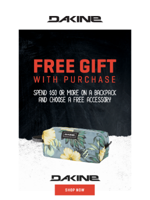 It's Back! Free Gift w/ Backpack Purchase