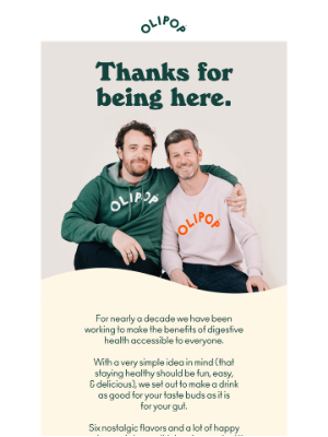 OLIPOP - A message from our founders 💌