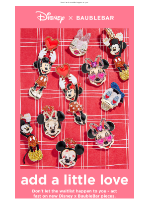 BaubleBar - NEW DISNEY, right this way.