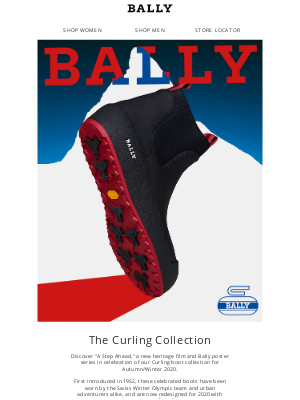 """Bally - Take """"A Step Ahead"""" With Bally Curling"""