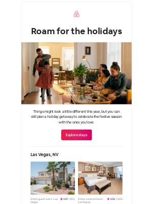 Airbnb - Iris, plan a cozy holiday getaway