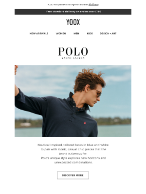 POLO RALPH LAUREN: nautical inspiration and classic pieces