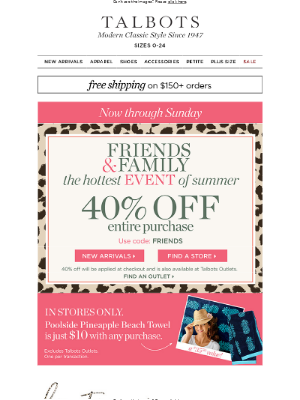 SPOTTED: 40% off EVERYTHING in stores & online!