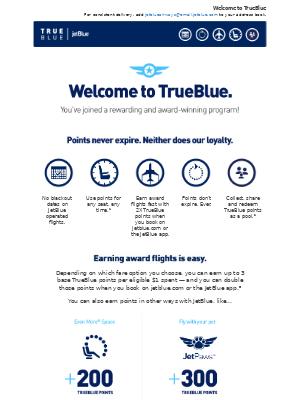 JetBlue Airways - Welcome to TrueBlue!