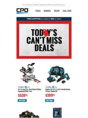 CPO Outlets - Today's Can't Miss Deals!