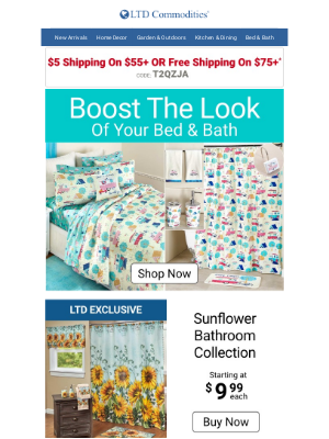 LTD Commodities - Refresh Your Bed & Bath Today!