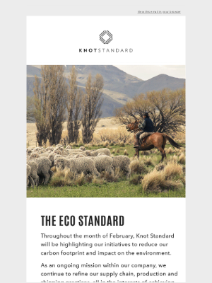 Knot Standard - Dormeuil | The New Standard for Sustainability