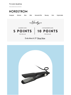 Nordstrom - Up to 25% off selected beauty tools and hair care—today only!