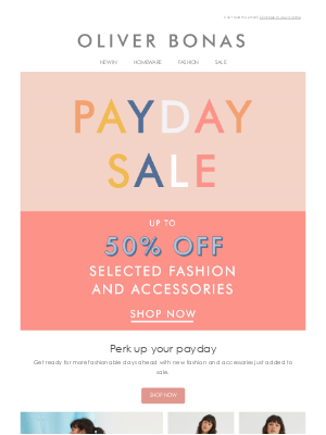 Oliver Bonas - PAYDAY SALE | Up to 50% off new styles