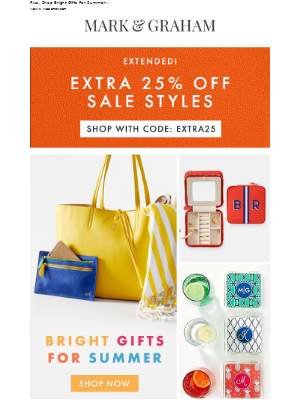 Mark and Graham - E-X-T-R-A 25% Off Sale Extended!