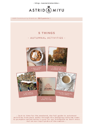 Astrid & Miyu (UK) - Just in time for the weekend 🍂