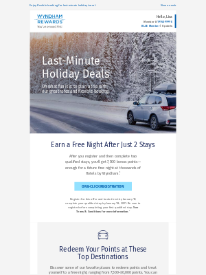 Wyndham Hotel Group - Holiday Rates as Low as $60/Night