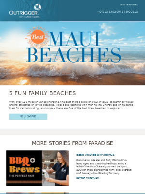 Outrigger Hotels - Our favorite family-friendly Maui beaches