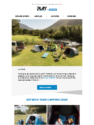 Decathlon (UK) - Our 10 Favourite Campsites in the UK 🏕️