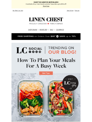 Linen Chest - TRENDING for Summer + Step Up Your Meal Prep Game!👍