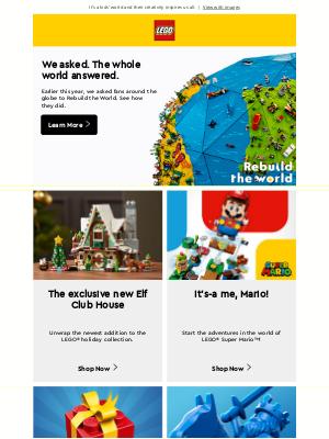 LEGO - Let's build, unbuild and rebuild together.