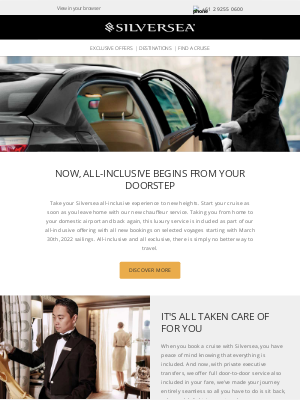 Silversea Cruises - All inclusive service starts at your front door