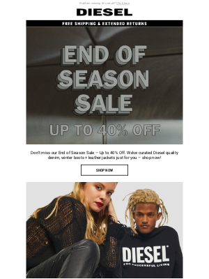 Diesel - Shop and Save Up to 40% Off D:CODER – Slim Fit Diesel Denim, Boots and Leather Jackets | End of Season Sale