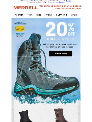 20% Off Winter Gear - Get It Before It's Gone!
