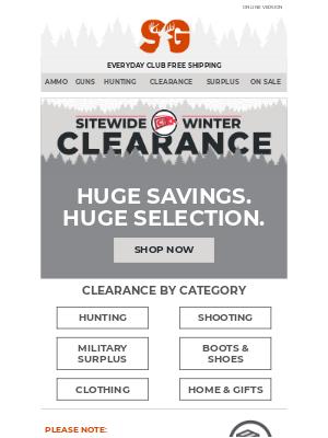 Sportsman's Guide - H-U-G-E Winter Clearance