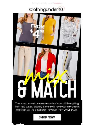 ClothinguUnder10 - New arrivals - Mix & match 😍