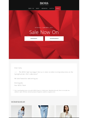 HUGO BOSS - BOSS Sale Now On!