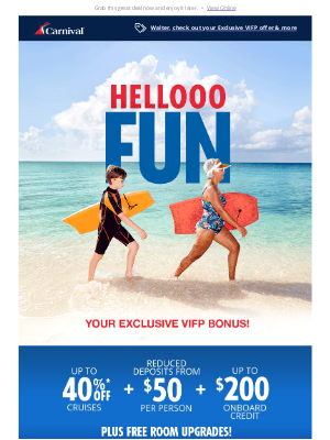 Carnival Cruise Line - Pick Your Fun: Cruise with all the goodies