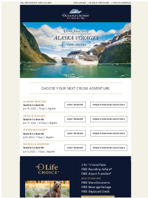 Oceania Cruises - Experience the Great Outdoors in Alaska