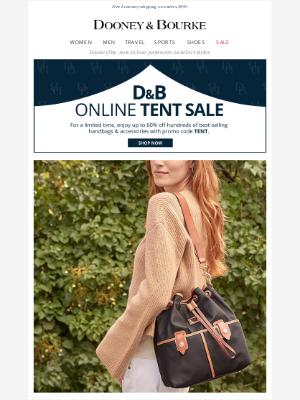 Dooney & Bourke - The Wayfarer Collection & shop the online Tent Sale!