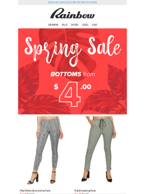 Rainbow Shops - 🚨 UP TO 60% OFF BOTTOMS! 👖 A sale this BIG won't last long 💸