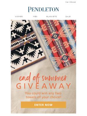 Pendleton Woolen Mills - Giveaway!