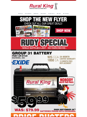 Rural King Supply - 🔔 Shop Our New Flyer + New Rudy Special!