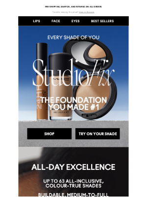 MAC Cosmetics -  The foundation you made #1! Find your Studio Fix match.