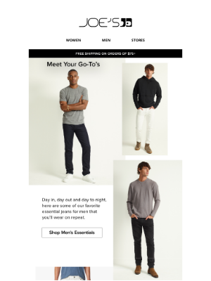 Joe's Jeans - 3 Essential Men's Jeans for Fall