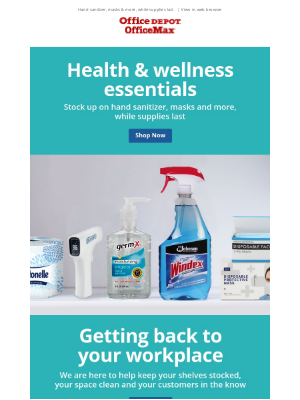 Get back to your workplace with health & wellness essentials