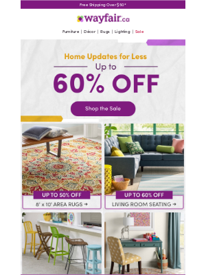 Home Updates! (UP TO 65% OFF.)
