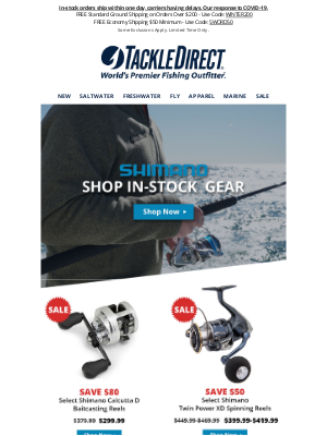 🎣 Why Wait? Shop In-Stock Shimano Gear Now!