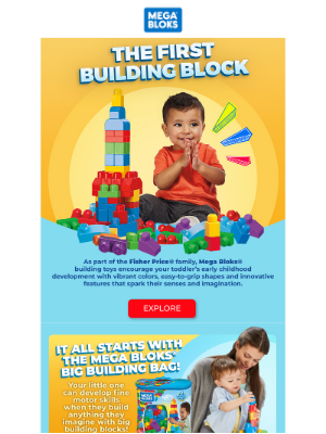 Fisher-Price - It all starts with Mega Bloks® Big Building Bag!