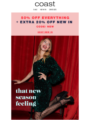 Coast Stores (UK) - Influencer-approved | 20% off new in