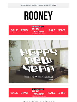 Rooney Shop - HAPPY NEW YEAR !