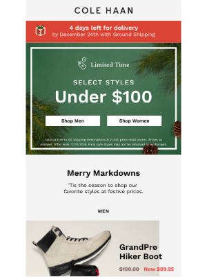 Our gift to you: select styles $100 and under