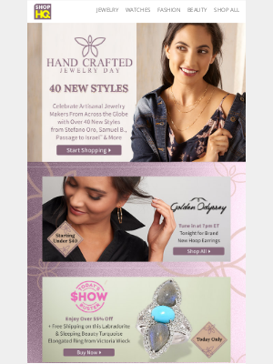 ShopHQ - Celebrate Artisanal Jewelry Makers From Across the Globe with Over 40 New Styles