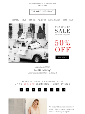The White Company - Up to 50% off clothing