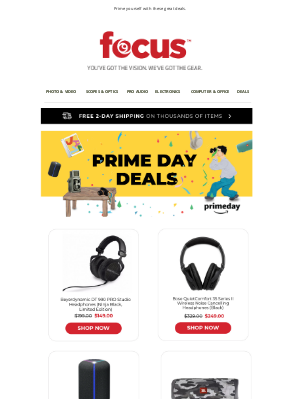 Focus Camera - These Deals are PRIME