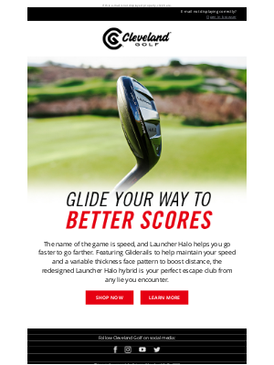 Roger Cleveland Golf Company Inc - Launcher Halo   Play Your Ball As It Lies
