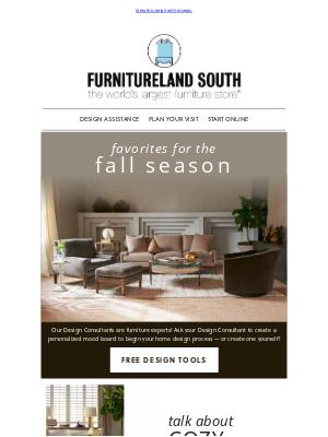 Furnitureland South - Autumn Styles We're Loving! 🍂