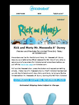 Kidrobot - Rick and Morty Mr. Meeseeks 8